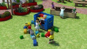 Outdoor classroom 3D rendering