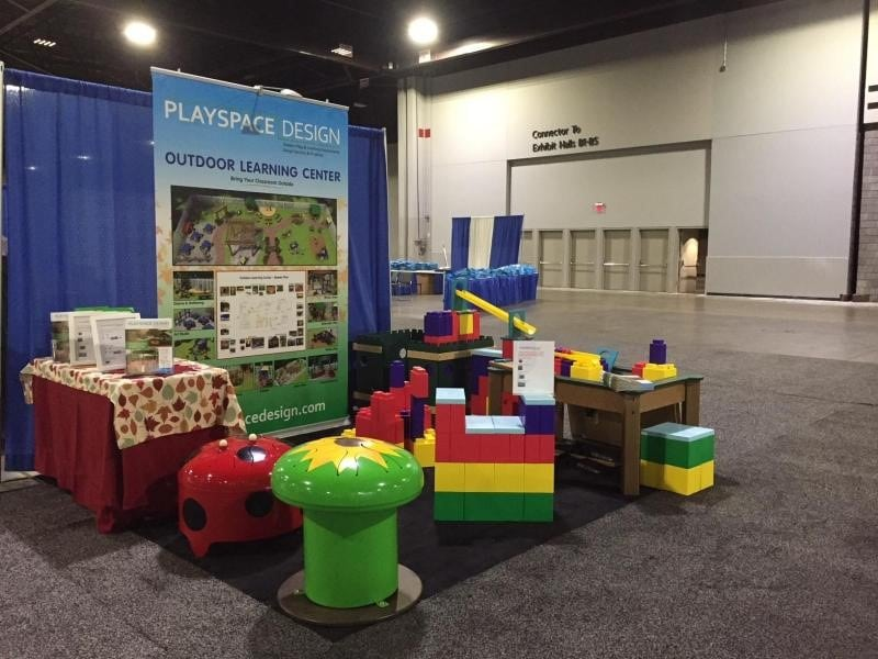 Playspace Design booth at convention