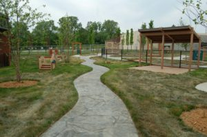 Outdoor play and learning area