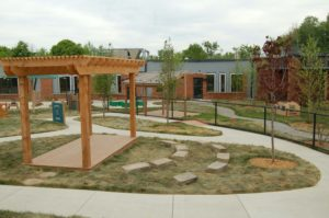 Outdoor classroom and play area