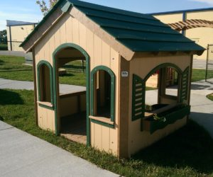 Outdoor play and learning facility product