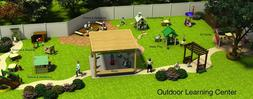 3D rendering of outdoor learning center