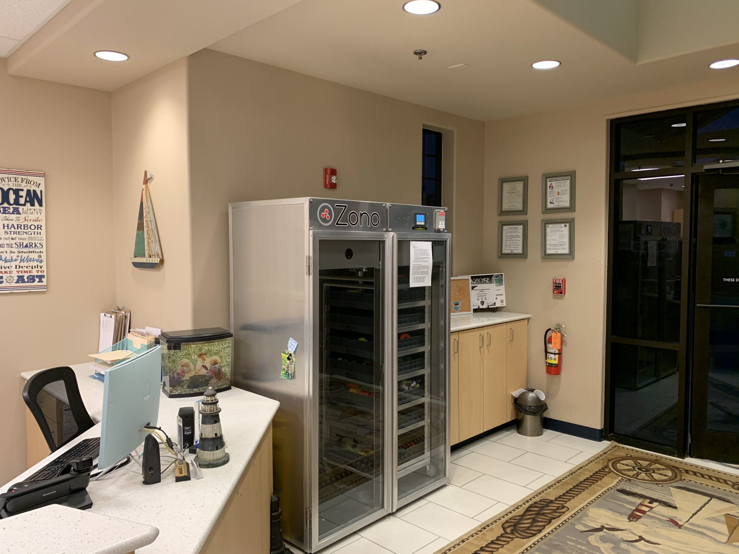 A ZONO Disinfecting & Sanitizing Double-Door Cabinet