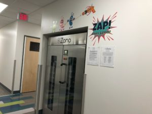 ZONO Disinfecting & Sanitizing Cabinet at childcare facility