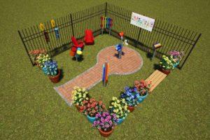 Music Garden rendering