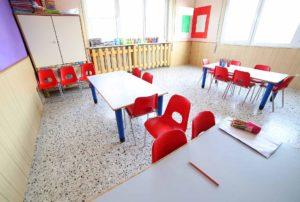 clean daycare center interior