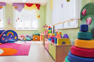 daycare center interior filled with toys